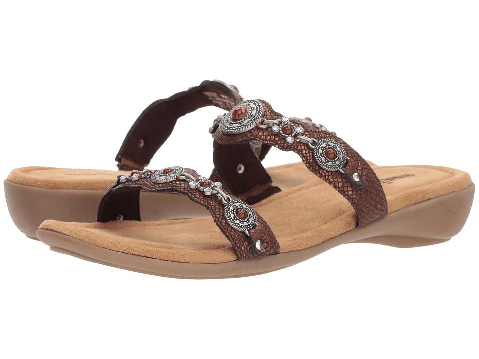 Minnetonka Boca Slide III (Bronze Python Print PU) Sandals