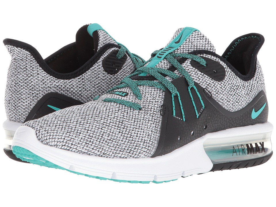 Nike Air Max Sequent 3 (White/Hyper Jade/Black) Women's Shoes