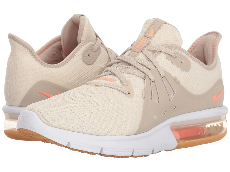Nike Air Max Sequent 3 (Light Cream/Crimson Tint/White/String) Women's Shoes