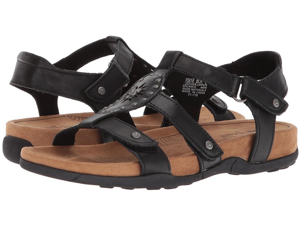 Minnetonka - Bristol (Black Leather) Womens Sandals