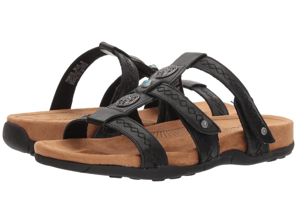 Minnetonka - Baker (Black Leather) Womens Sandals