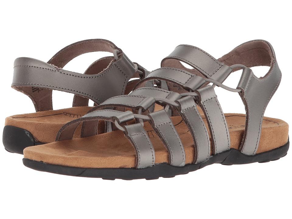 Minnetonka - Ballard (Pewter Leather) Womens Sandals