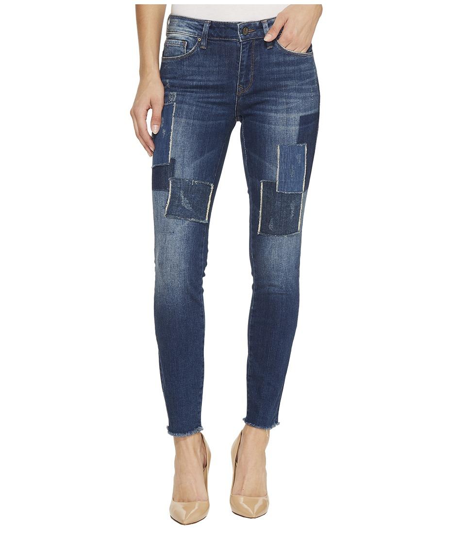Mavi Jeans Adriana Mid-Rise Skinny Ankle Jeans in Indigo Patched Vintage (Indigo Patched Vintage) Women