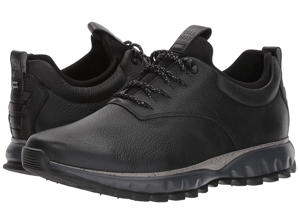Cole Haan Grand Explore All-Terrain Ox Waterproof (Black Leather/Ironstone/Magnet WP) Men