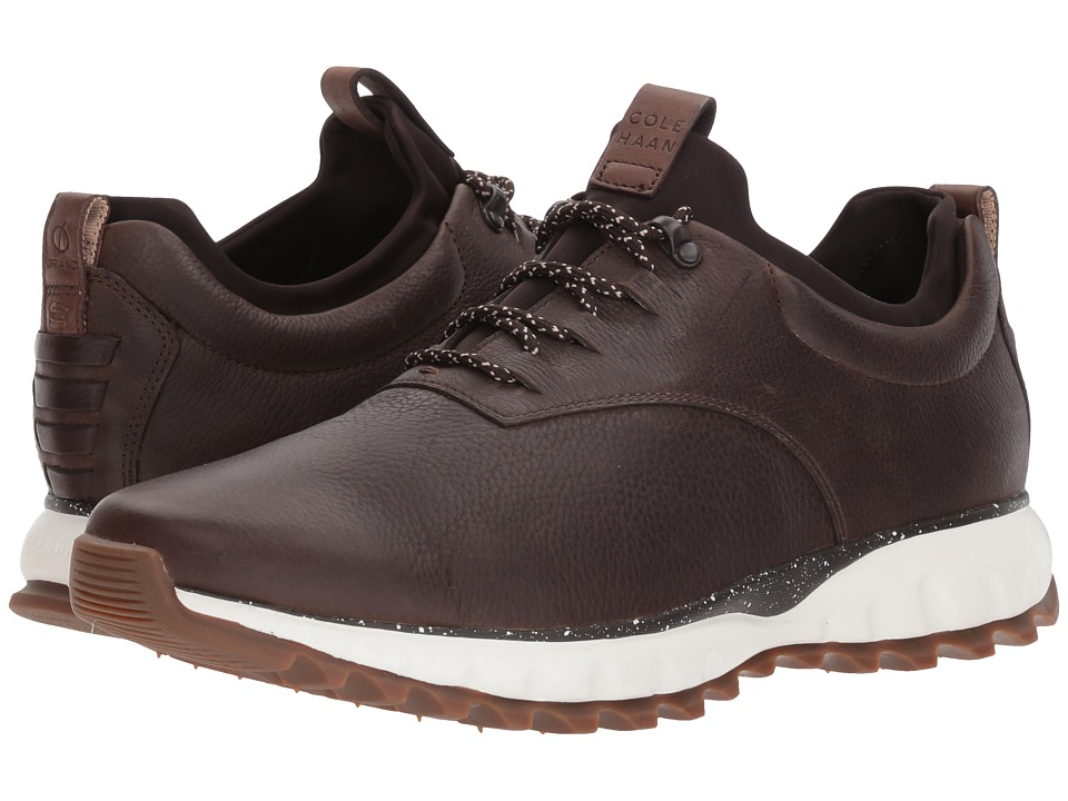 Cole Haan Grand Explore All-Terrain Ox Waterproof (Dark Taupe Leather/Dark Roast/Ivory/Gum WP) Men