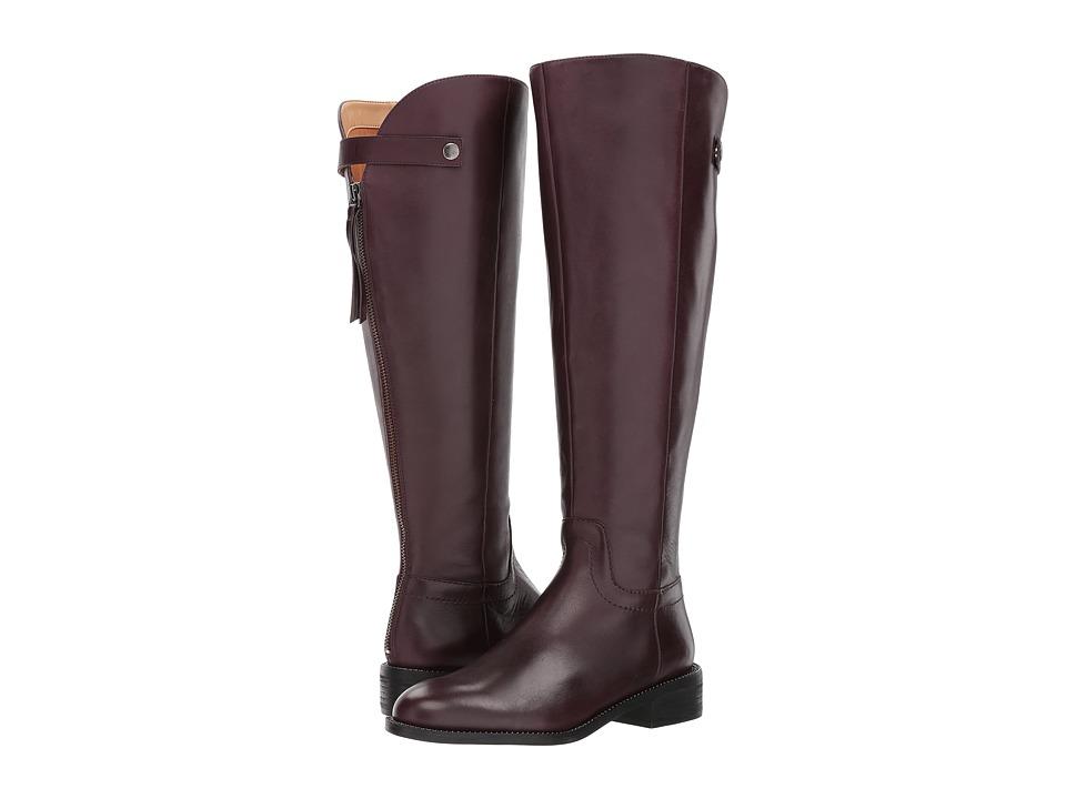 Franco Sarto Brindley Wide Calf (Dark Burgundy Bally Leather) Women