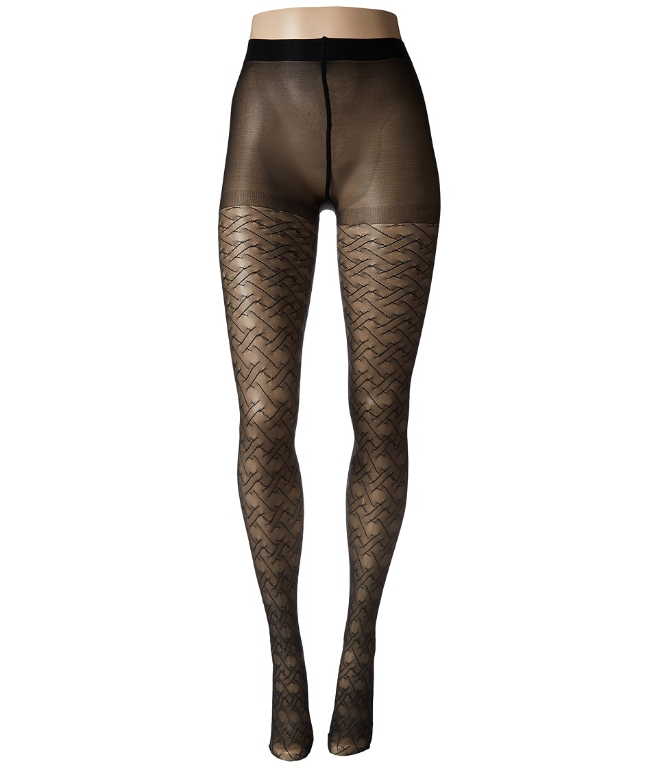 Natori - Elegant Trellis Tights (Black) Hose