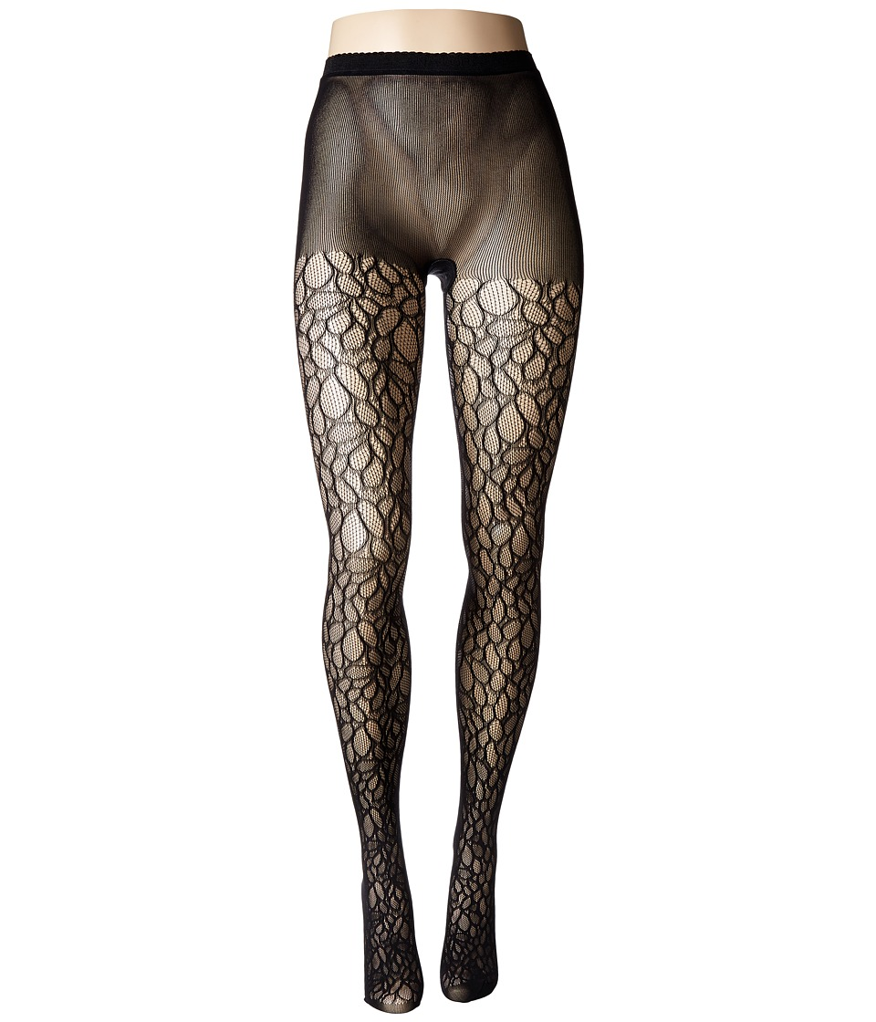 Natori - Deco Lace Net Tights (Black) Hose