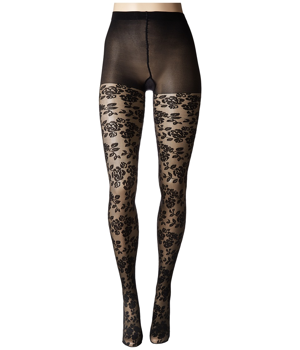 Natori - Nouveau Rose Sheer Tights (Black) Hose