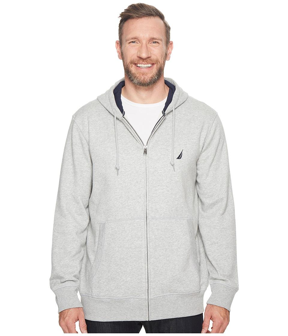 Nautica Big & Tall - Big Tall Specialty Hoodie (Grey Heat...