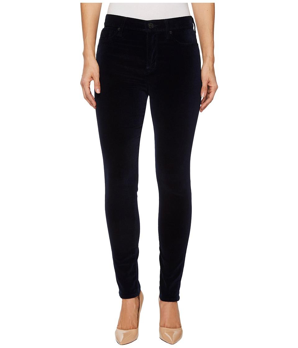 Hudson Barbara High-Waist Super Skinny Velvet Jeans in Dark Obsidian (Dark Obsidian) Women