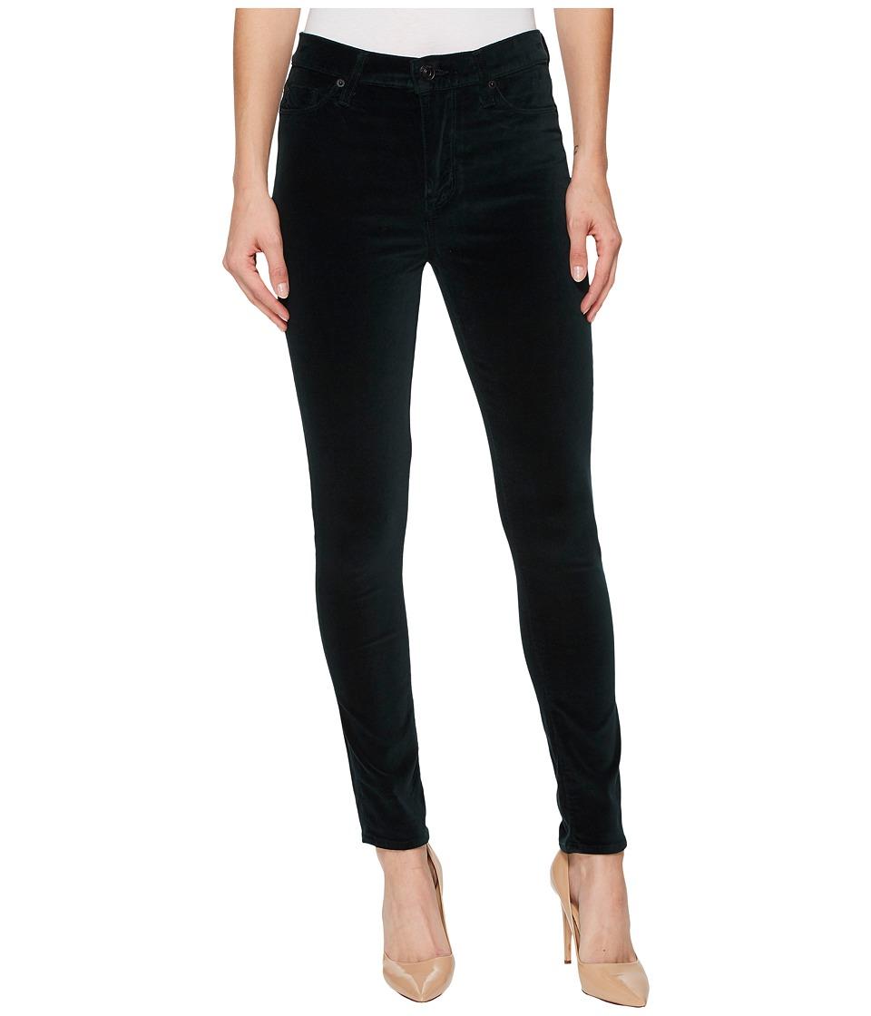 Hudson Barbara High-Waist Super Skinny Velvet Jeans in Agave (Agave) Women