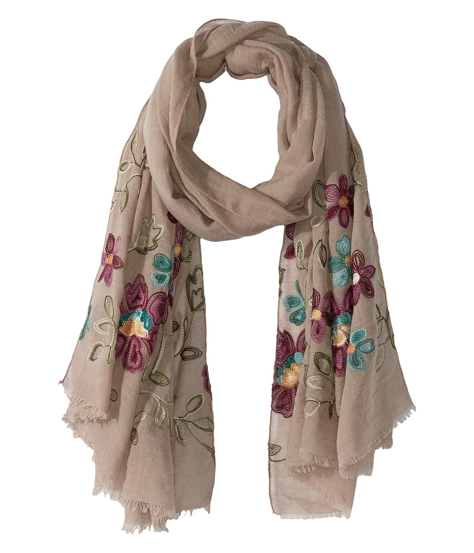 Bindya - Floral Embroidered Scarf