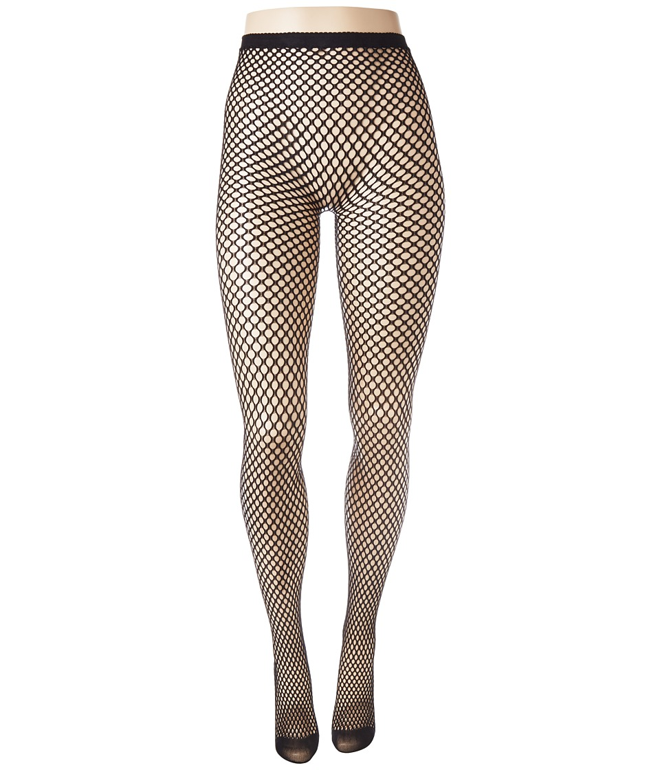 Betsey Johnson - 1-Pack Big Dot Openwork Tights (Black) Hose