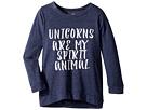 The Original Retro Brand Kids Unicorns Are My Spirit Animal 3/4 Pullover (Big Kids)