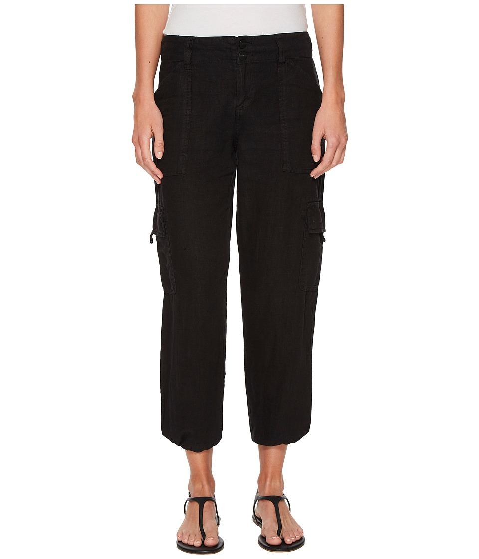 Sanctuary - Terrain Linen Crop Pants (Black) Womens Casual Pants
