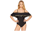 Athena Hey There Stud Cold Shoulder Maillot