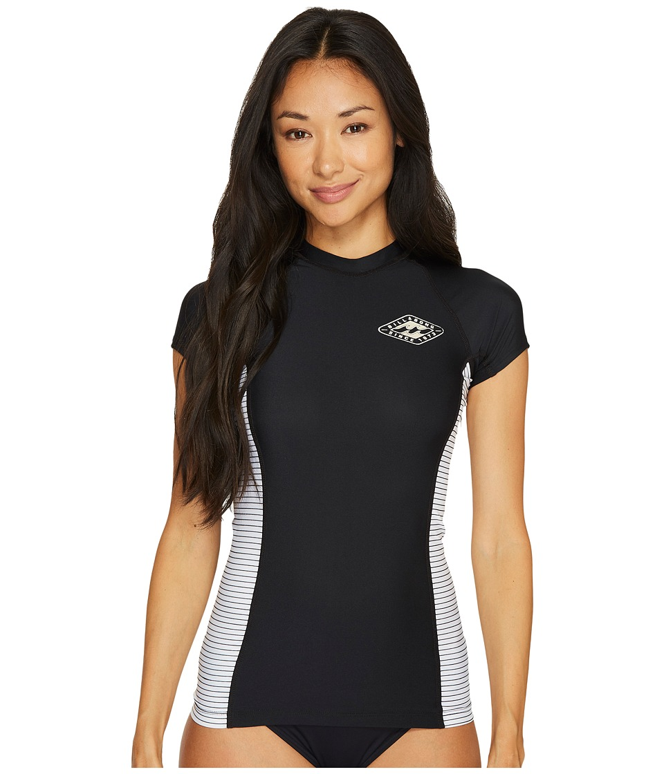 Billabong Surf Dayz Performance Fit Colorblock Short Sleeve (Black) Women