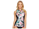 Next by Athena Undercover Tropics Intensity Zip Front Tank Top