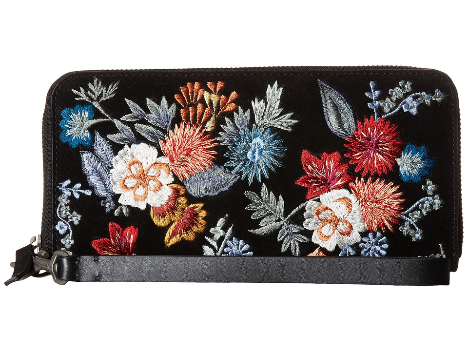 Lucky Brand - Super Bloom Wallet (Floral Embroidery) Wallet Handbags