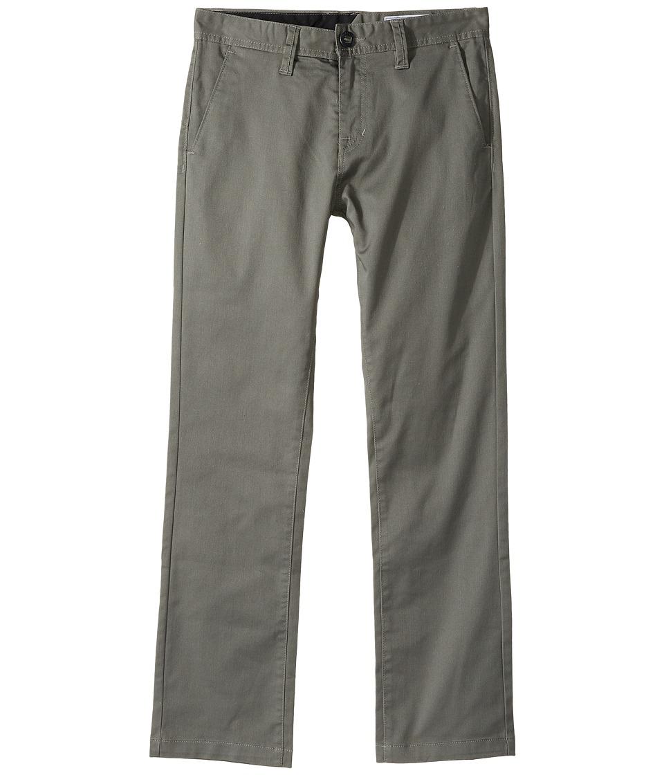 Volcom Kids - Frickin Modern Stretch Chino Pants (Big Kids) (Dusty Green) Boys Casual Pants