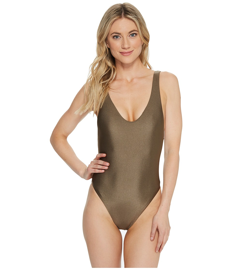 BECCA by Rebecca Virtue - Reversible Shimmer High Leg One-Piece