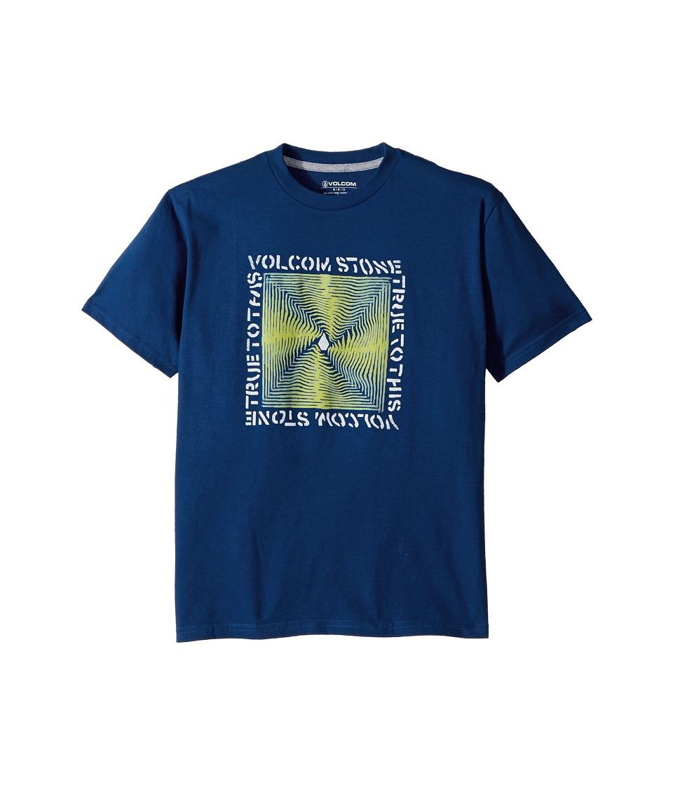 Volcom Kids - Stone Radiator Short Sleeve Tee (Big Kids) (Camper Blue) Boys T Shirt