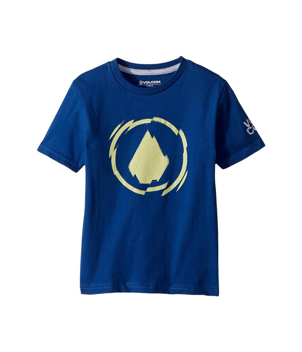 Volcom Kids - Shatter Short Sleeve Tee (Toddler/Little Kids) (Camper Blue) Boys T Shirt