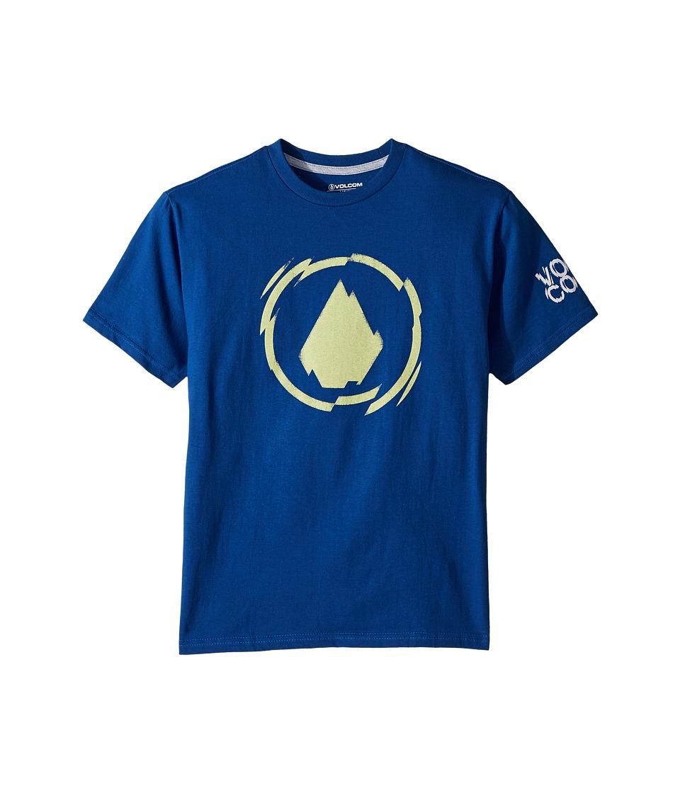 Volcom Kids - Shatter Short Sleeve Tee (Big Kids) (Camper Blue) Boys T Shirt