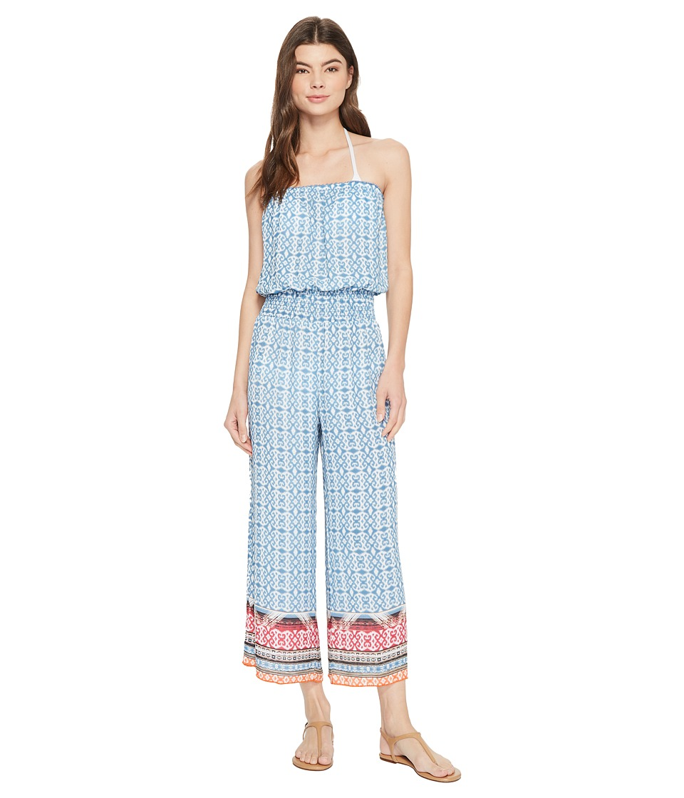 Image of BECCA by Rebecca Virtue - Bora Bora Jumpsuit Cover-Up (Multi) Women's Jumpsuit & Rompers One Piece