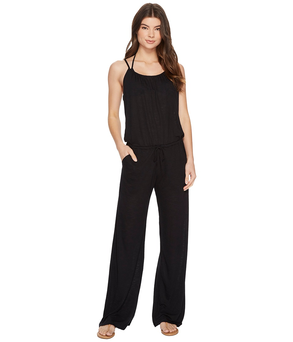 BECCA by Rebecca Virtue - Breezy Basics Jumpsuit Cover-Up (Black) Womens Jumpsuit & Rompers One Piece