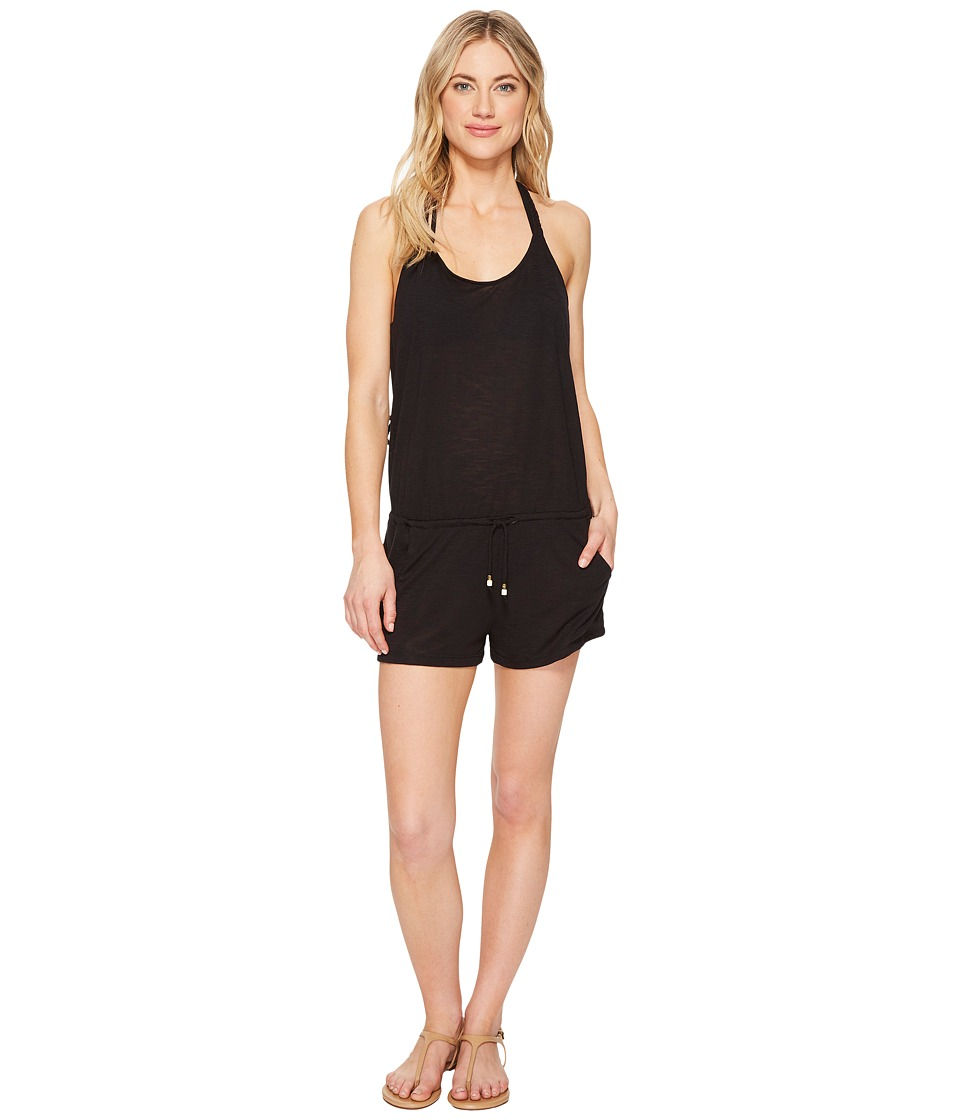 BECCA by Rebecca Virtue - Breezy Basics Romper Cover-Up (Black) Womens Jumpsuit & Rompers One Piece