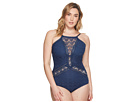 BECCA by Rebecca Virtue BECCA by Rebecca Virtue Plus Size Color Play High Neck One-Piece