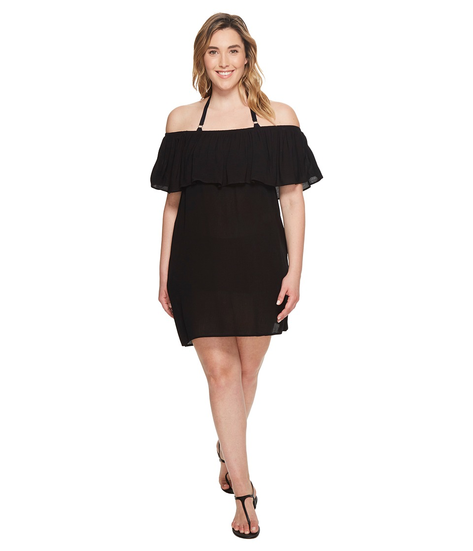BECCA by Rebecca Virtue Plus Size Modern Muse Dress Cover-Up (Black)