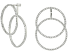 Vince Camuto Double Crystal Pave Front Back Hoop Earrings