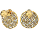 Vince Camuto Crystal Pave Disc Front Back Earrings