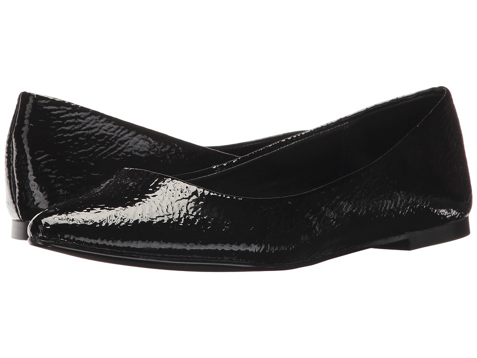 Vintage Style Shoes, Vintage Inspired Shoes BCBGeneration - Millie Black Smooth Crinkle Patent Womens Flat Shoes $79.00 AT vintagedancer.com