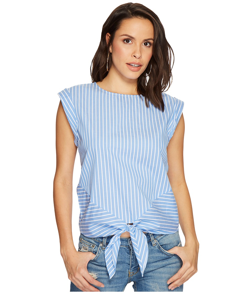 Bishop + Young - Hampton Blouse (Blue/White Stripe) Womens Blouse