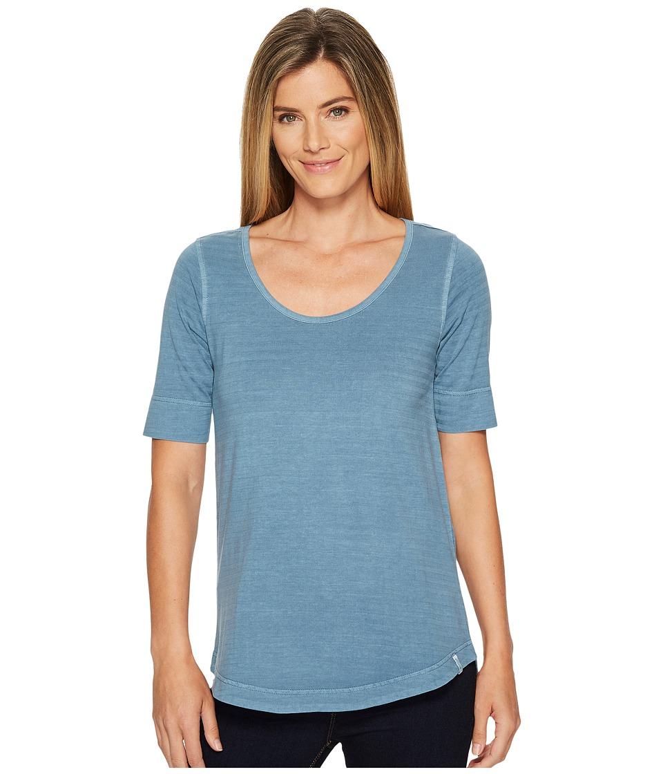 Woolrich - Meadow Forks 3/4 Sleeve Shirt (Bluestone) Womens T Shirt