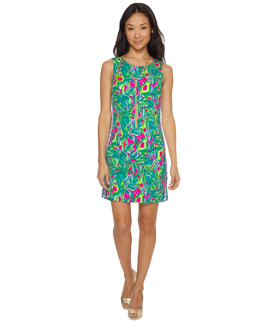 Lilly Pulitzer Mila Shift Dress (Pink Sunset Guac and Roll) Women
