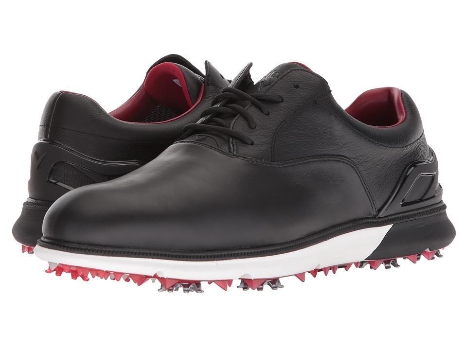 Callaway - La Grange (Black/White/Red) Mens Golf Shoes