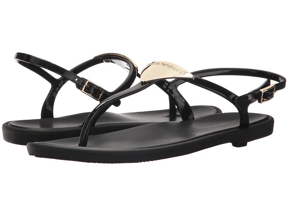 Emporio Armani - X3Q056 (Black) Women's Sandals