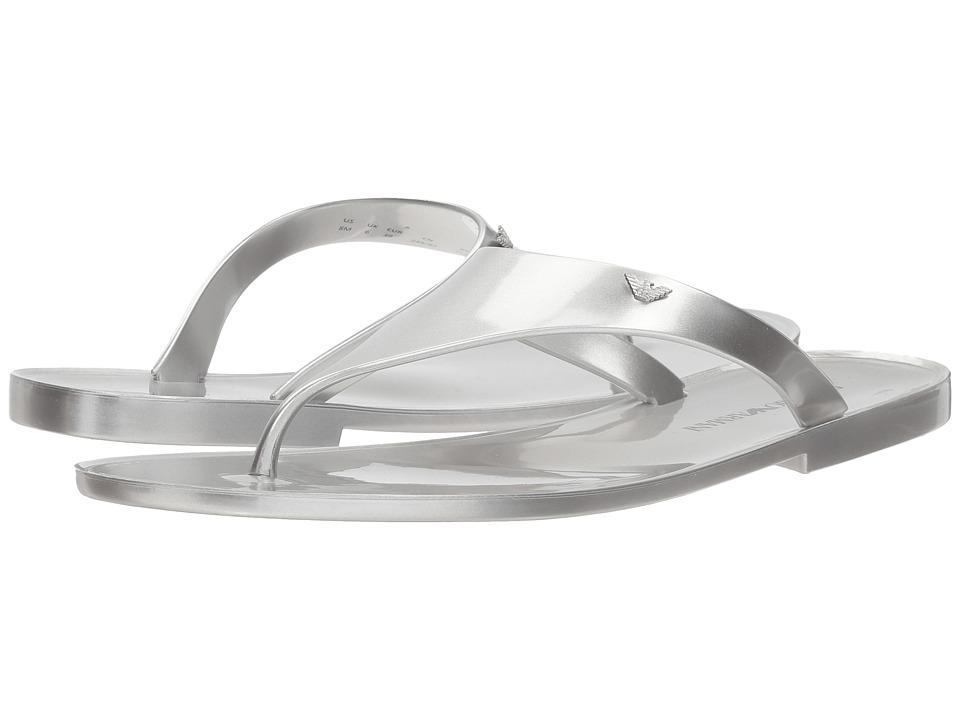 Emporio Armani - X3Q058 (Silver) Women's Sandals