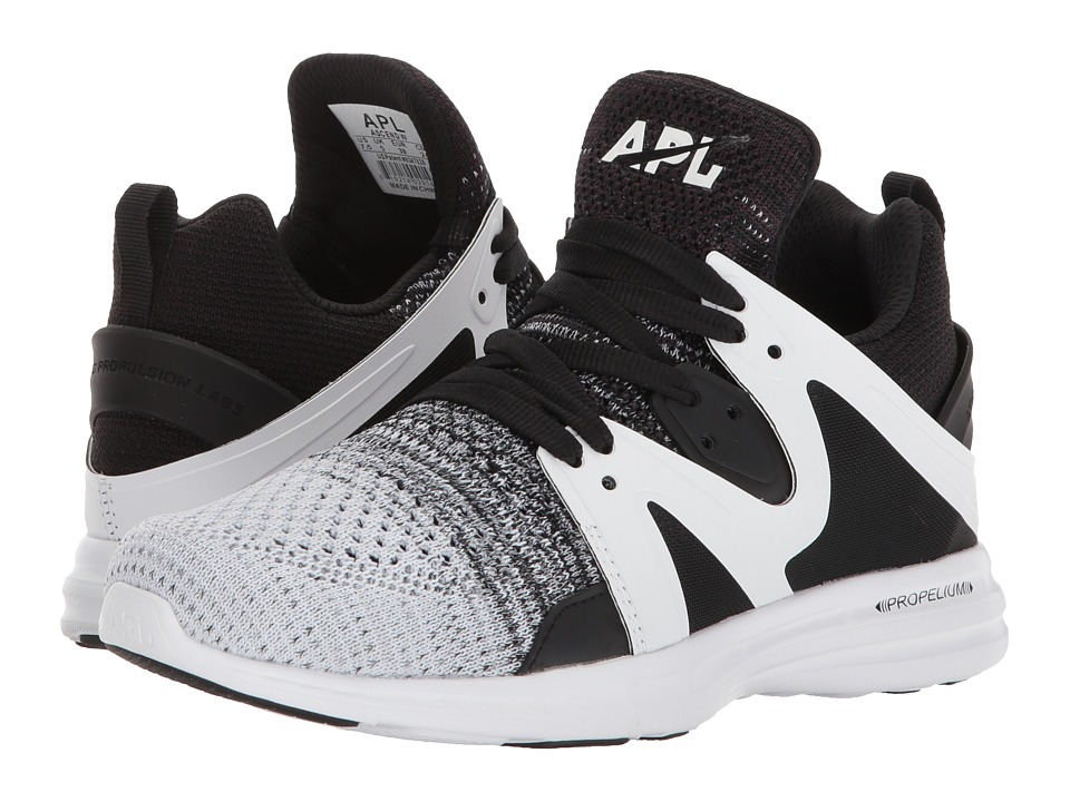 Athletic Propulsion Labs (APL) - Ascend (Black/Heather Grey/White) Womens Shoes