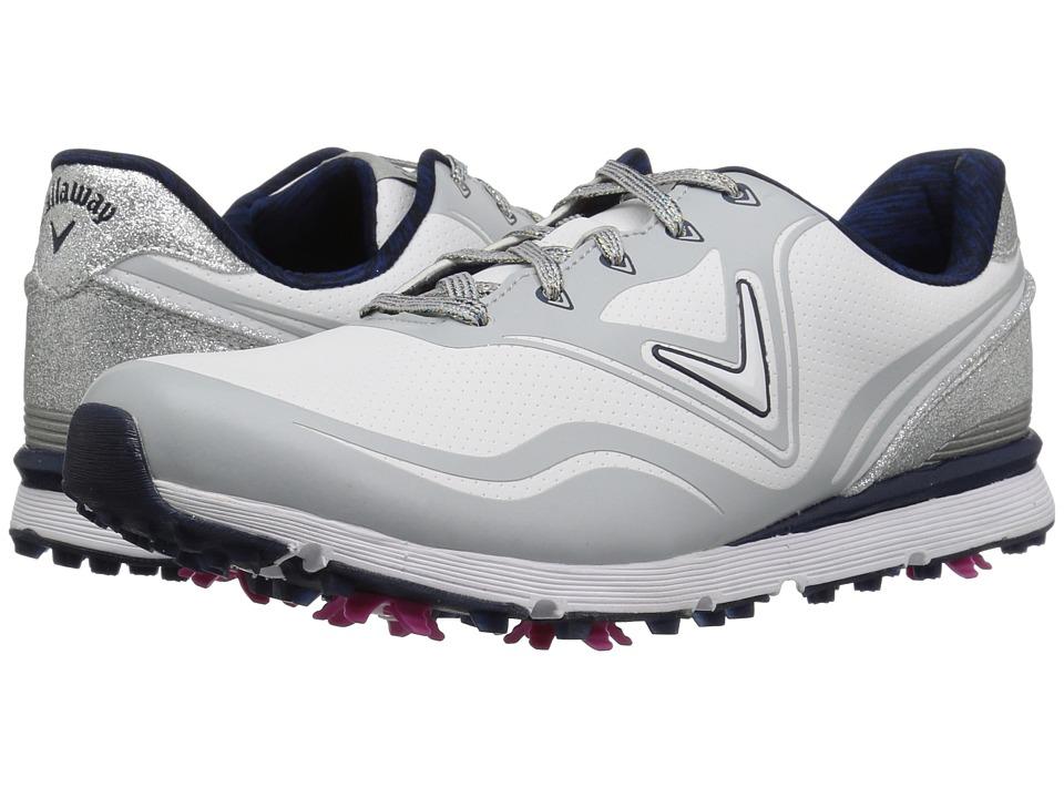 Callaway Halo (White/Navy) Women's Golf Shoes