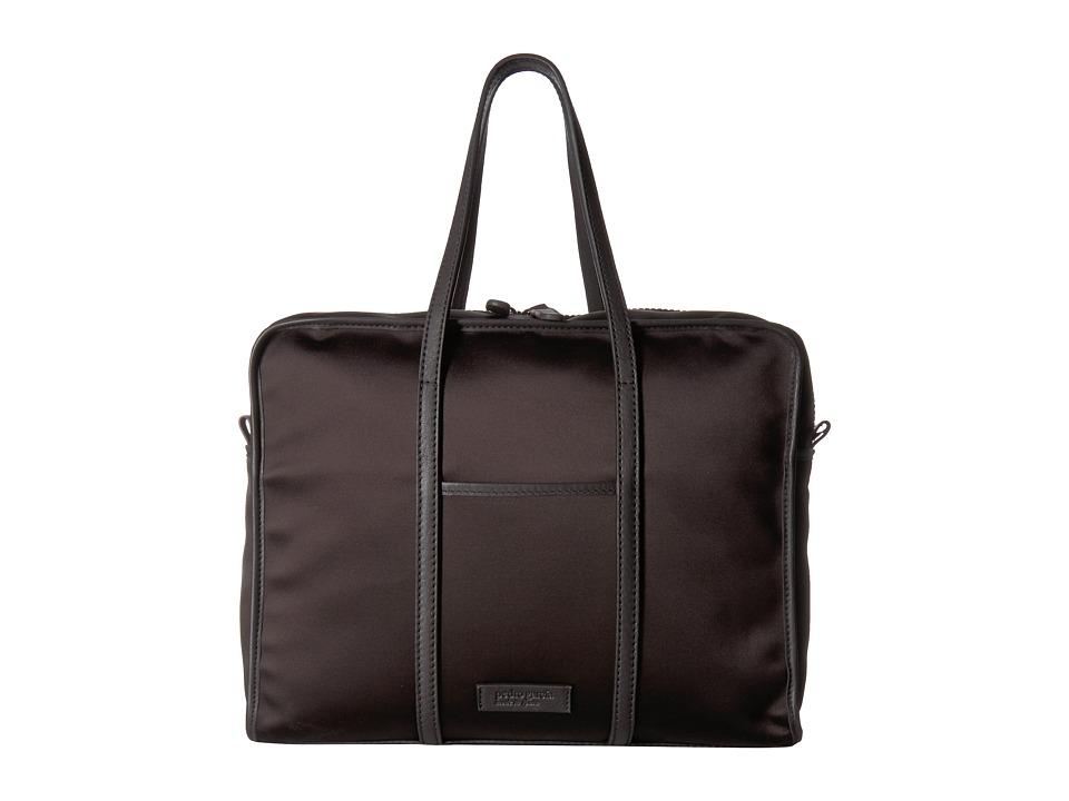 Pedro Garcia Satin 24HR Bag (Black Satin) Handbags