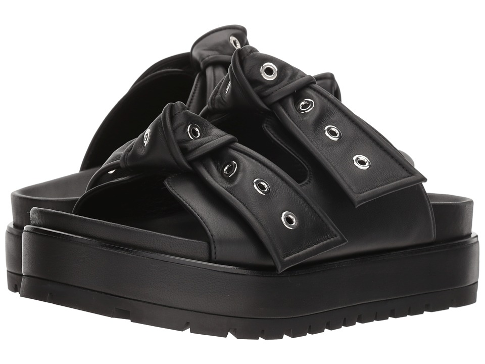 Alexander McQueen Platform Bow Sandal (Black/Black) Women