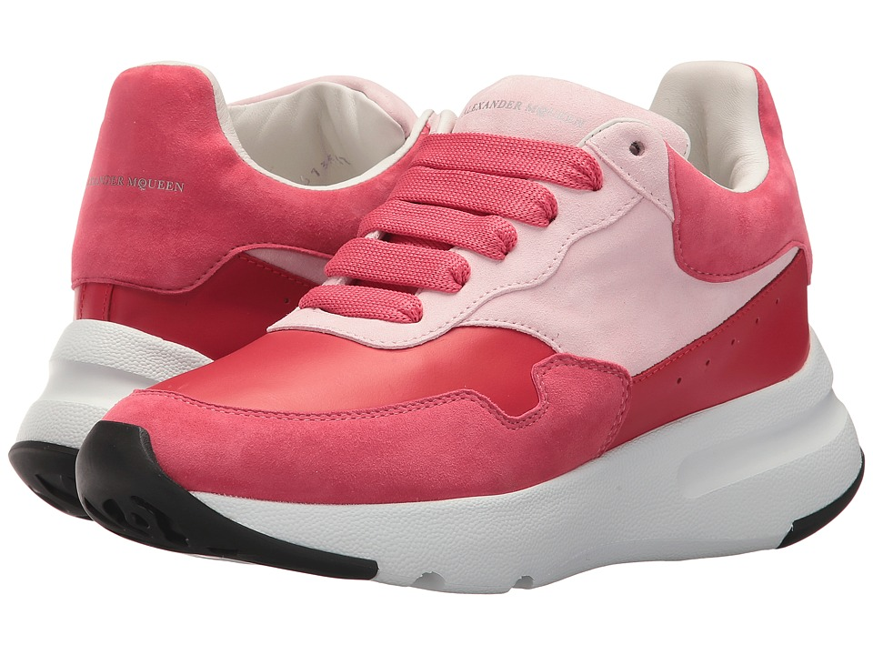 Alexander McQueen - Runner Sneaker (Lipstick Pink/Red/Rosa) Womens Lace up casual Shoes