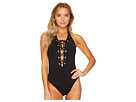 Seafolly Active Lace-Up Halter Maillot