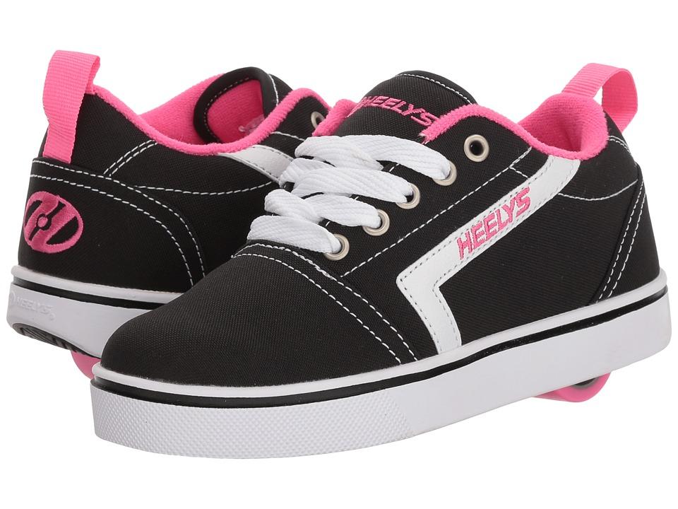 Heelys - GR8 Pro (Little Kid/Big Kid/Adult) (Black/White/Hot Pink) Girls Shoes
